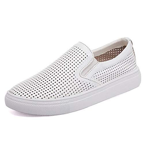 in Punta con Sneakers Black da donna piatto bianca tacco nappa Comfort pelle Scarpe nera chiusa ZHZNVX PqXwTP