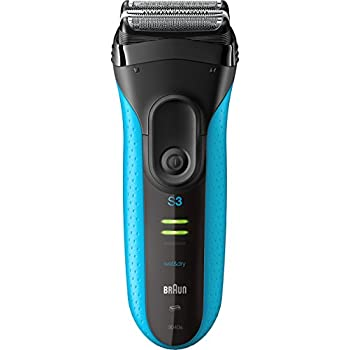 Braun Electric Shaver, Series 3 ProSkin 3040s Men's Electric Razor/Electric Foil Shaver, Rechargeable, Wet & Dry, Blue