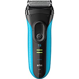 Braun Electric Razor for Men / Electric Shaver, Series 3 ProSkin 3010s, 100% Waterproof, Rechargeable, Advanced Micro Comb Technology, Wet & Dry, Blue - 413uKsQkgrL - Braun Electric Razor for Men, Series 3 3010S Electric Shaver, Rechargeable, Wet & Dry Foil Shaver