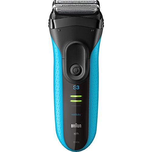 Braun Electric Shaver, Series 3 ProSkin 3040s Men's Electric Razor / Electric Foil Shaver, Rechargeable, Wet & Dry, Blue