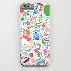 Society6 - Ponyo Pattern - Studio Ghibli iPhone 6 Case by Teacuppiranha
