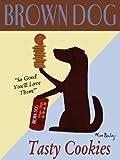 Blue Fox Brown Dog Cookies Wood Plaque