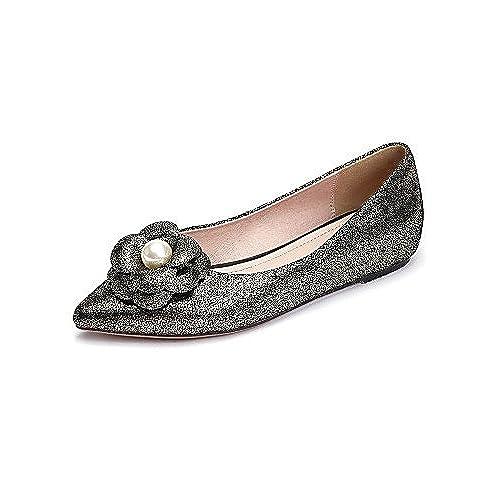 9e035f4599f PDX de zapatos de mujer piel talón plano comodidad señaló Toe Pisos al aire