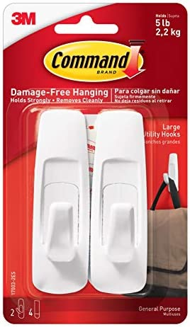GP003-7NA Ships in Own Container Command White Large Utility Hooks