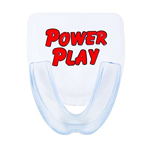 Power Play Mouth Guard. Moldable strapless single mouthguard for sports: hockey, football, boxing, basketball, mma, wrestling. Include mouth guard case. Fits Youth and - Hockey Wrist Guards
