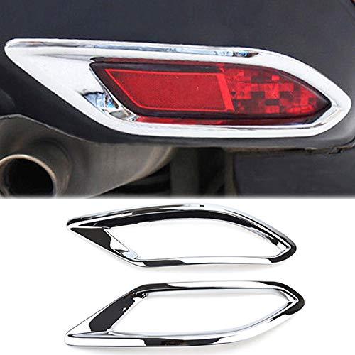 For Honda HR-V/Vezel 2016 2017 2018 Chrome Rear Tail Fog Light Foglight Lamp Cover Trim Reflector Bumper Frame Bezel Molding Garnish Surround Protector Decoration Car Styling