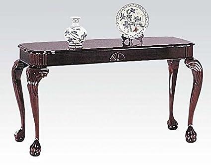amazon com sofa table traditional style cherry finish kitchen dining rh amazon com Contemporary Sofa Tables Ashley Furniture Console Sofa Table