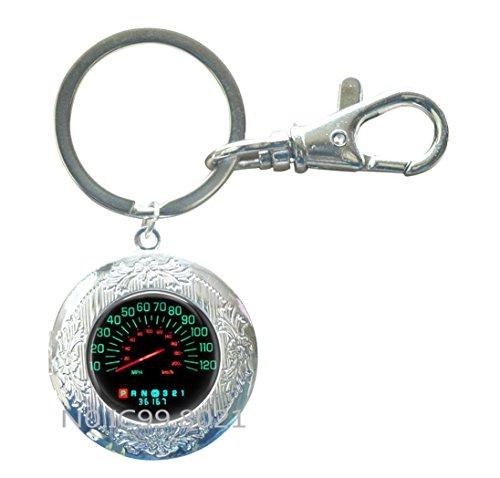 Race Car Speed Meter Locket Keychain, Car Race Driver Driving, Stock Car Racing, Box Car Racer, Sprint Car Racing, Dirt Car Racing Jewelry Locket Keychain.XT256 (A) - Love Sprint Car
