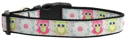 Mirage Pet Products Sweet as Sugar Owls Nylon Ribbon Collar for Pets, Large from Mirage Pet Products