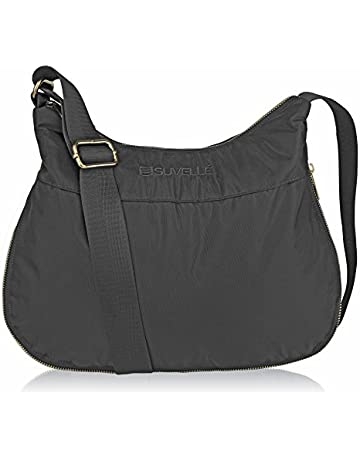 3e49fc4e4cb26 Suvelle Lightweight Hobo Travel RFID Blocking Expandable Crossbody Bag  Multi Pocket Shoulder Handbag BA20