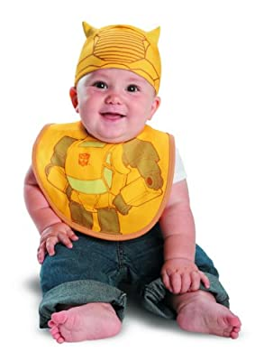 Disguise Drool Over Me Transformers Bumblebee Infant Bib and Hat Costume