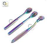 G.S Set of 3 Wartenberg Neurological Pin Wheel Pinwheel 1, 2, 3 Head Diagnostic Multi Color Rainbow Best Quality