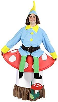 Disfraz humorístico de enano sentado en seta - L: Amazon.es ...