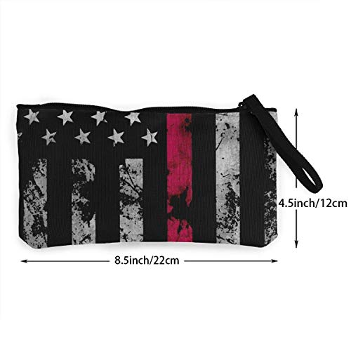Wallet Flag Thin Bag Pencil Coin Fgregtrg Purse Unisex Wristlet Canvas Firefighter Clutch Red American Pouch Line Cosmetic aw7z4qt7