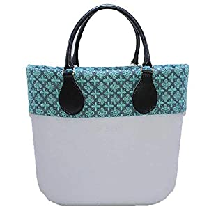 Borsa o bag mini sky bordo denim manico corto blu sacca interna 13