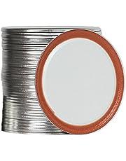 70mm Regular Mouth Canning Lids for Ball, Kerr Jars, Metal Mason Jar Lids for Canning, Split-Type, Food Grade Material, 100% Fit & Airtight for Regular Mouth Jars