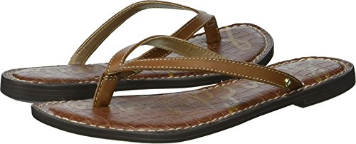 Sam Edelman Women's Gracie Flip-Flop, Luggage, 9.5 M US by Sam Edelman