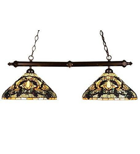 (Meyda Tiffany 18847 2 Light Jeweled Grape Island Light, Mahogany )