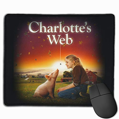 Mouse Mat with Designs Charlotte's Web Dakota Fanning Mousepad Gaming Mouse Pad Natural Rubber 25X30 cm