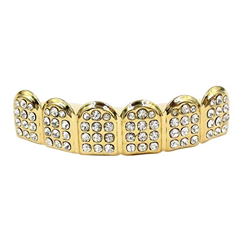 Hip Support - Teeth Grills Gold Hip Hop With Drill Bottom Dental Vampire Caps Mouth Halloween - Decorations Party Party Decorations Gold Grillz Teeth Halloween Kyphosis Correction Brace]()