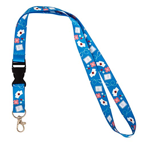 Nurse RN Doctor Lanyard for Badge ID Card Keys Keychain Souvenir Holder Nurse Doctor Teacher Office (Design #3) -