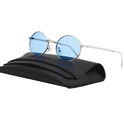 VIVIENFANG Vintage Tinted Lens Small Oval Polarized Sunglasses Metal Avaitor Shades For Unisex 87156C - Tinted Lenses