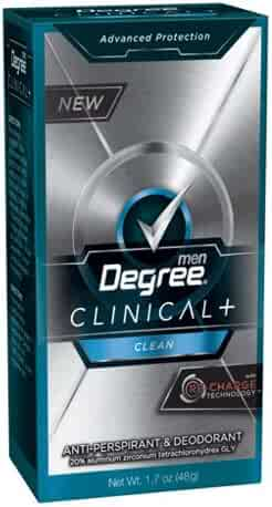 Degree Clinical Plus Anti-Perspirant Deodorant, Clean, 1.7 Ounce
