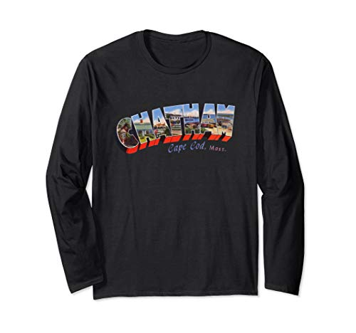 Chatham Cape Cod Massachusetts MA Vintage Retro Souvenir Long Sleeve T-Shirt Chatham Cape Cod Ma