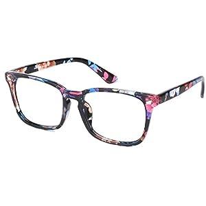 Slocyclub Vintage 50's Wayfarer Clear Lens Glasses Nerd Square Keyhole Design Eyeglasses