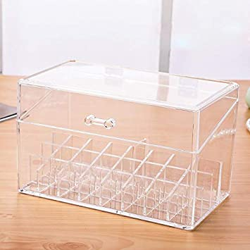 Acrylic Makeup Organizer Polish Cosmetic Storage Box ... - Amazon.com
