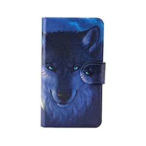 Generic Wild beast Wolf Design Card Slot Magnetic PU Leather Flip Case Cover For SONY Xperia miro ST23I