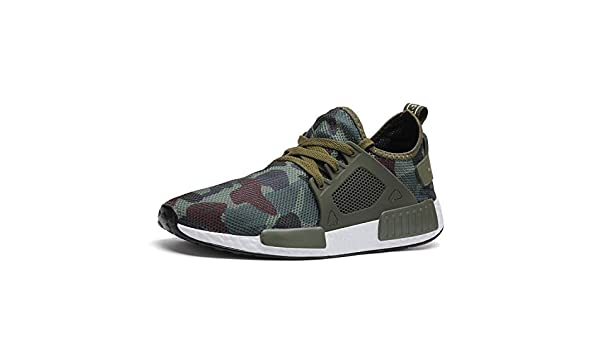 Amazon.com | 2019 New Men Casual Shoes Camouflage Shoes Army Green Sports Shoes Ultra Boosts Zapatillas Deportivas Hombre Large size48, Green, 8.5 | Shoes