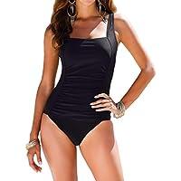 upopby clásico Mujer Tummy Control Monokini una pieza traje de baño traje de baño retro