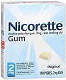 Nicorette Gum 2 mg Original - 170 ct, Pack of 3