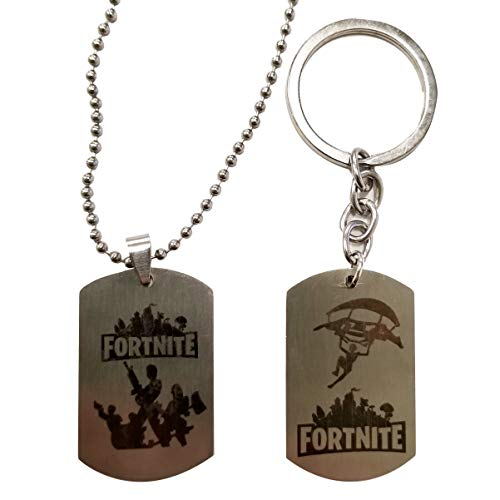 Bigger Things Stainless Steel Game Necklace and Keychain for Children - Stocking Stuffer and Party Favor