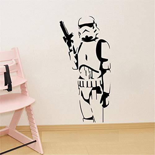 Seois Wall Sticker Decal Mural Window Vinyl Decal Quote Art Star Wars Stormtrooper for Kids Room Living Room Bedroom -