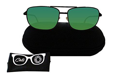 Cali Sun Polar Sunglasses   Polar Sunglasses for Men   Polar Sunglasses for women   Unisex Polarized Sunglasses   Sunglasses Case   (Brown Frame, Green - Say Sunglasses What You About