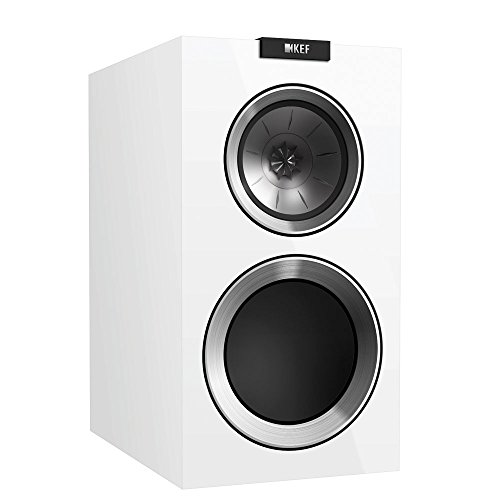 KEF R300 Bookshelf Loudspeaker – Gloss White (Pair)