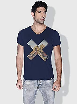 Creo Beirut History X City Love T-Shirts For Men - L, Blue