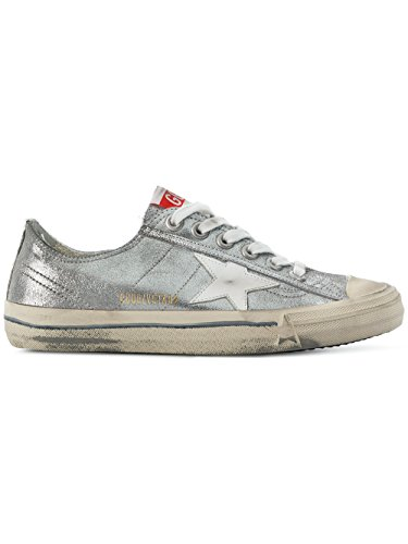 Leather Women's Silver Golden Sneakers G32WS639S6 Goose IRgxPC