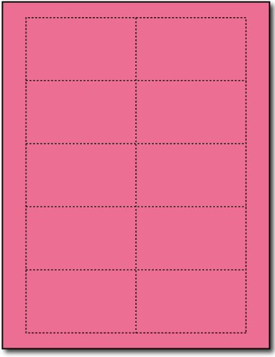 Plain Pink 110lb Index Business Cards - 25 Sheets/250 Business Cards - Desktop Publishing Supplies, Inc.TM - Business Card Pink