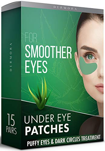 Aloe Vera Under Eye Patches - 15 Pairs - Puffy Eyes & Dark Circles Treatments - Look less Tired & Reduce Wrinkles & Fine Lines Undereye, Revitalize & Refresh Your Skin - Cruelty Free & Vegan Eye Patch