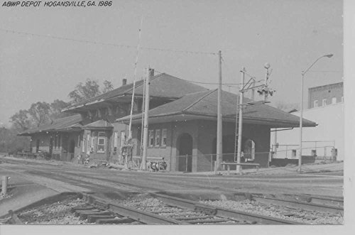 Hogansville Georgia 1986 Atlanta West Point train depot real photo pc Z11134 (Depot Train Postcard)