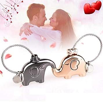 Amazon.com: 2 llaveros Auch de oro rosa y gris para parejas ...