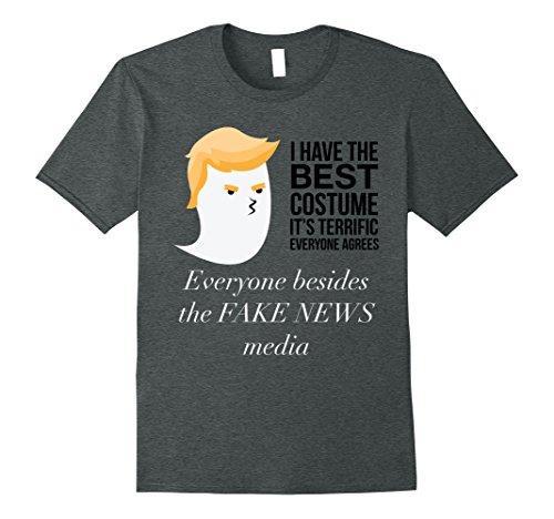 Mens Political Funny Halloween Costume Trump T- Shirt Small Dark Heather