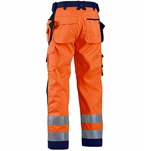Blåkläder Workwear Winter SoftshellBundhose Highvis 1567, 54, orange / marine, 1 Stück, 67-15672517-5389-C54