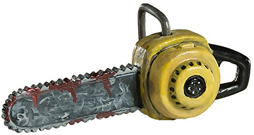 Halloween Chainsaw Prop (Bloody Chainsaw Ornament - Scary Prop and Decoration for Halloween, Christmas, Parties and Events - By HorrorNaments)