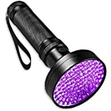 UV Black Light Flashlight,Super Bright 100 LED UV Torch Portable Blacklight Ultraviolet Detector Flashlight for Pet…
