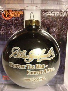 Dale Earnhardt Christmas Ornament - Dale Earnhardt Sr Forever The Man Forever A Fan Black NASCAR Ball Christmas Ornament Winners Circle