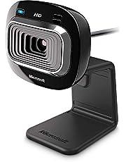 كاميرا ويب عالية الدقة HD لايف كام HD-3000 720 بكسل من مايكروسوفت – أسود، T3H-00004